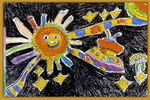 儿童画/我去太空儿童画