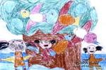 让我们爱小鸟吧儿童画作品欣赏