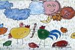 我给孩子来喂食儿童画作品欣赏
