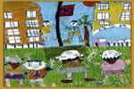 升旗仪式儿童画3幅图片