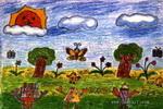 森林之声儿童画