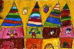 奇幻的城堡儿童画作品欣赏