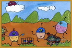 小卫士儿童画2幅