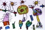 热气球的奇遇儿童画作品欣赏