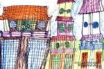 古老的屋子儿童画作品欣赏