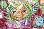 七彩太阳儿童画2幅