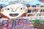 快乐的歌儿童画图片