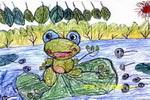 秋天 儿童画/春天的池塘儿童画