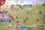作品 儿童 油画棒/愉快的课外活动儿童画