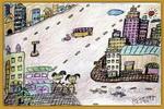 新城区变化大儿童画