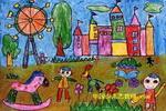 游乐场儿童画5幅