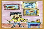 小画家儿童画5幅