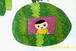 西瓜屋儿童画