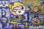 远离SARS儿童画