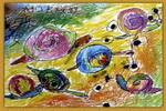 去旅游的蜗牛儿童画