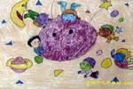 五彩的天空儿童画