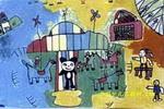 游乐园儿童画4幅