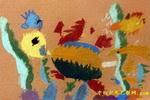 大海龟儿童画2幅