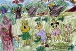 帮小鸟找家儿童画作品欣赏