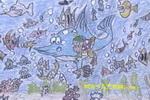 海底小精灵油画棒儿童画
