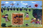维吾尔族人真快乐儿童画
