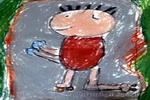 我学会滑旱冰了儿童画