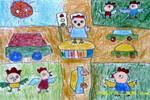 遵守交通规则公鸡儿童画