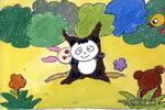 快乐大森林儿童画作品欣赏
