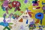选美油画棒儿童画