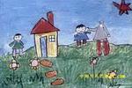 大头儿子和小头爸爸儿童画2幅