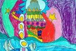 海市蜃楼儿童画4幅