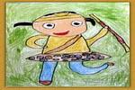 我是孙悟空油画棒儿童画