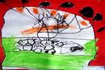 写生《一盆植物》儿童画4幅
