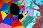 织布儿童画2幅