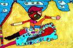猴王儿童画作品欣赏