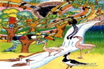 鸟的天堂儿童画2幅