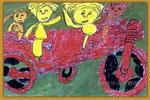 旅游去儿童画3幅
