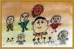 大头学跳舞儿童画