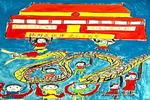 祝建党八十周年儿童画作品欣赏