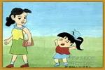 和妈妈上街儿童画