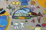 漫游太空儿童画
