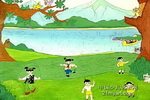 春之歌儿童画2幅