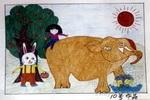 夏天的情趣儿童画作品欣赏