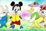 米老鼠与唐老鸭儿童水粉画