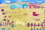 庭院小卫士儿童画