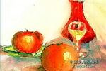 静物与水果儿童画作品欣赏
