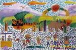 新世纪的森林公园儿童画