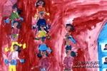 扭秧歌儿童画3幅
