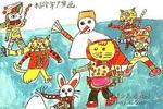 冬趣儿童画2幅