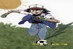 足球小子儿童画2幅
